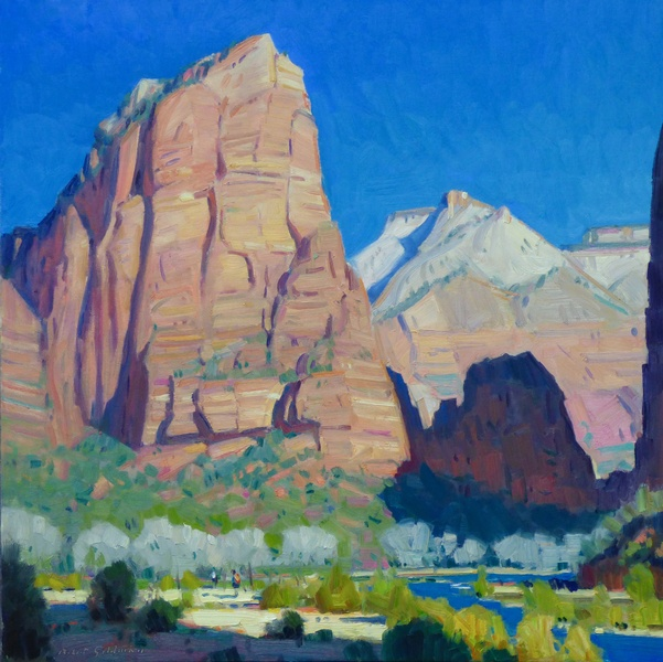 Angel's Landing Zion by Robert Goldman