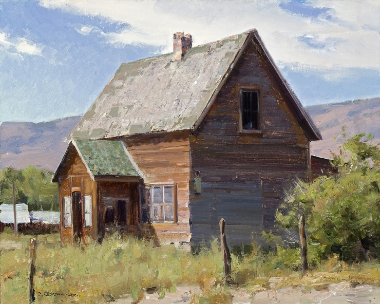 Old House on Highway 89 by Clyde Aspevig
