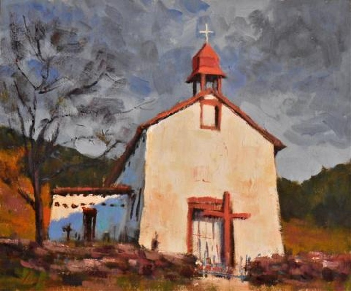 Church at Canoncito by Lorenzo Chavez