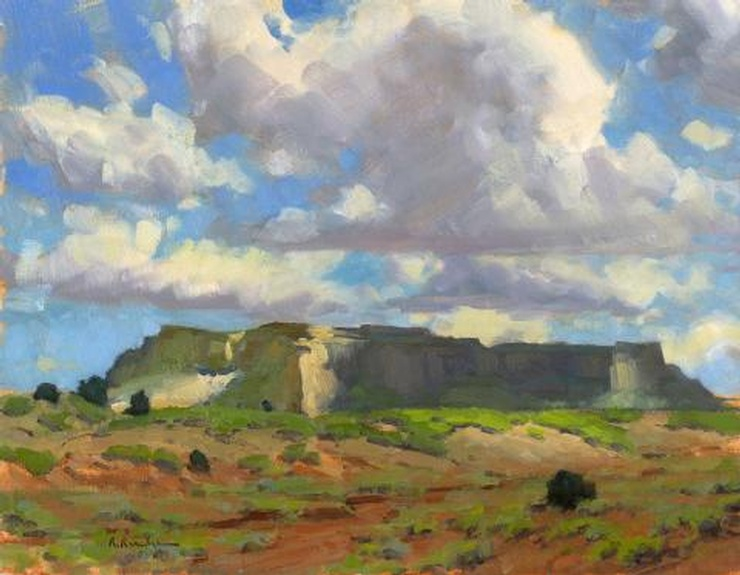 White Mesa in Shadow by Ron Rencher