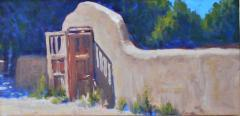 Adobe Wall and Gate - Oil - 10x20