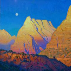 Day's End Zion - Oil - 30x30
