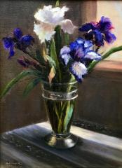 Irises from my Garden - Oil - 14x11