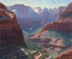 Zion Canyon Overlook - Oil on Linen - 10x12