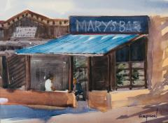 Mary's Bar - Watercolor - 10x14