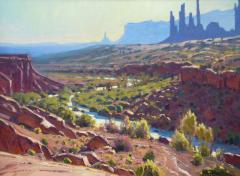 Monument Valley Morning - Oil on Linen - 18x24