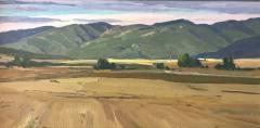 Sanpete County Summer - Oil on Panel - 7x14