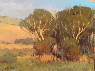 Cottonwoods at Redrock - Oil - 9x12