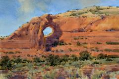 Wilson Arch Near Moab - Watercolor - 15x22