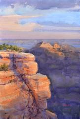 View from North Rim Lodge - Watercolor - 22x15