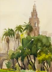 Bell Tower - Watercolor - 12x9