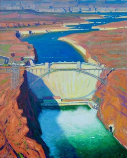 Above the Glen Canyon Dam: click to enlarge