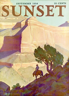 Sunset Magazine Cover 1934: click to enlarge
