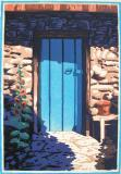 Door Like the Sky Block Print by Brad Teare