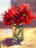 Geraniums in a Glass